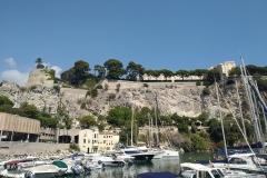 Monaco Ansicht auf den Hafen und das Palais