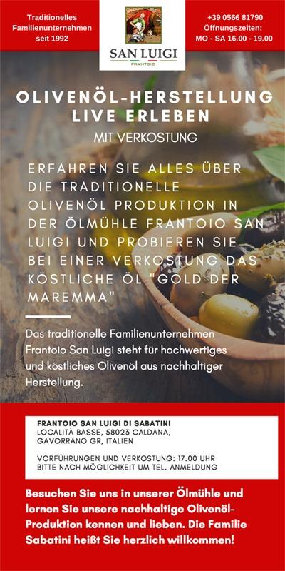 Frantoio San Luigi Olivenöl-Herstellung