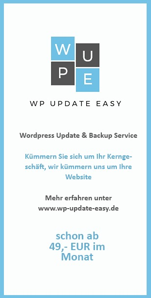 Wordpress Update und Backup Service WP Update Easy