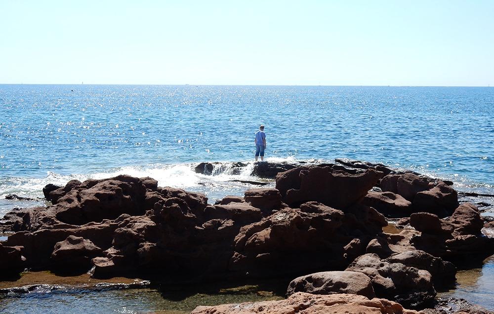 Strand-Saint-Raphael-Felsen und Klippen Massif d´Esterel