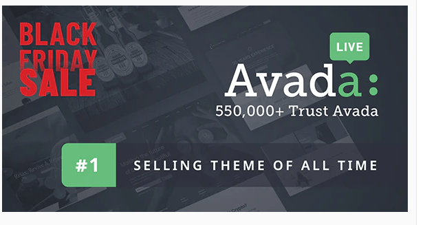 Wordpress Theme Avada Black Friday Aktion