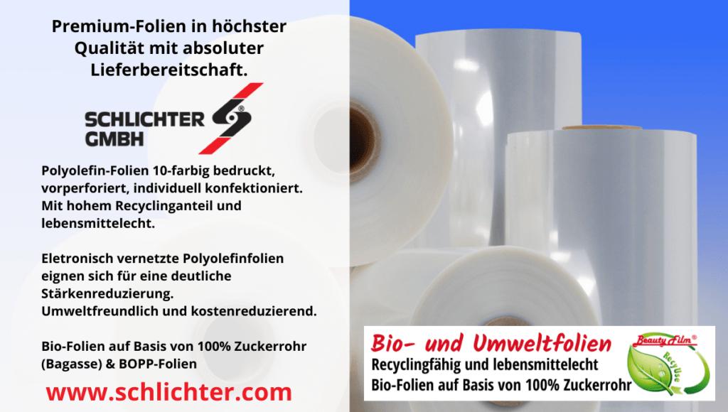 Schlichter GmbH Verpackungsfolien mit konstanter Lieferbereitschaft